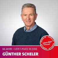 Günther Scheler Alter: 66 Jahre | Beruf: Pensionär Ich setze mich dafür ein, dass Umwelt- und Klimaschutz in Lichtenfels mehr Bedeutung bekommen.