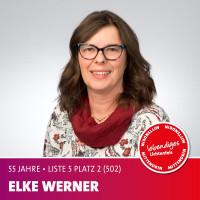 Elke Werner Alter: 55 Jahre | Beruf: Lageristin / SPD-Vorsitzende Schney Ich stehe für die Nähe zu unseren Lichtenfelser Bürgerinnen und Bürgern, um vor Ort zu hören, wo der Schuh drückt.