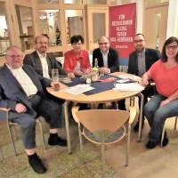 Von links nach rechts: MdL Klaus Adelt, Dr. Ralf Pohl, MdL Susann Biedefeld, Sebastian MÜller, OV-Vorsitzender von LIF Markus Püls, die Schneyer OV-Vorsitzende Elke Werner